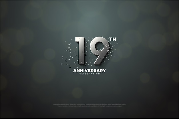 The nineteenth anniversary with silver numbers