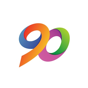 Ninety logo vector