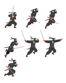 Ниндзя ассасин игра анимация спрайт