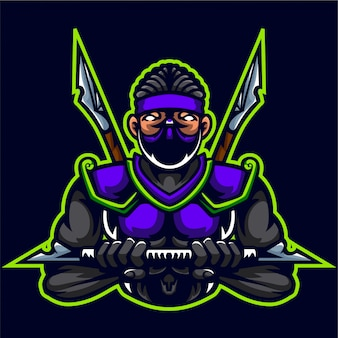 Ninja assassins muscle body builder logo