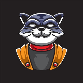Логотип талисмана кошки ниндзя