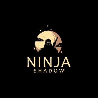 Шаблон логотипа ниндзя