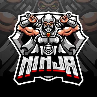 Талисман ниндзя. киберспорт дизайн логотипа