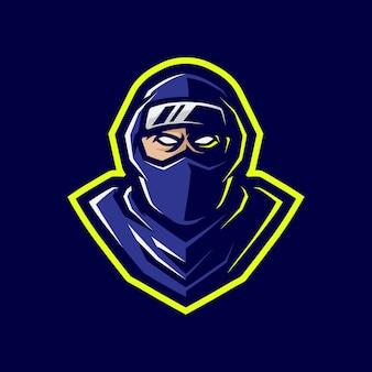 Дизайн логотипа талисмана ниндзя