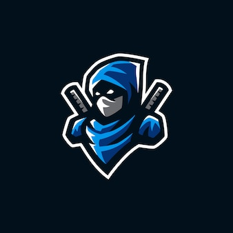 Ninja mascot logo illustration