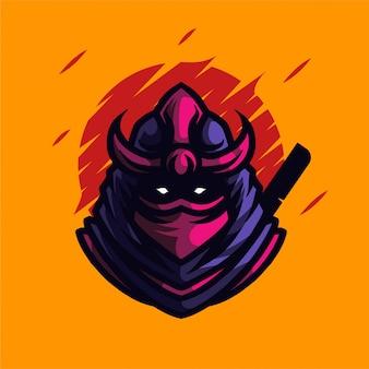 닌자 마스코트 로고