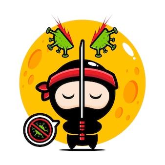 Ninja splitting coronavirus design