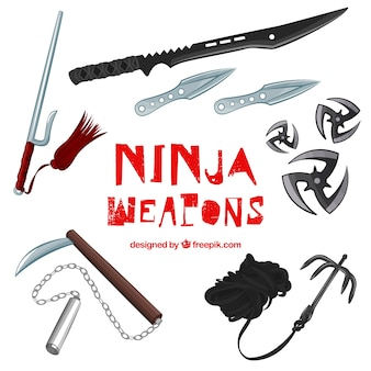 Ninja weapons set