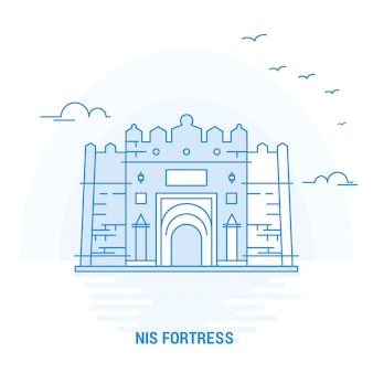Nis fortress blue landmark
