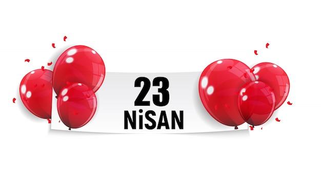 子供の日のトルコ語を話す、nisan cumhuriyet bayrami。