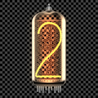 Nixie tube indicator lamp with number