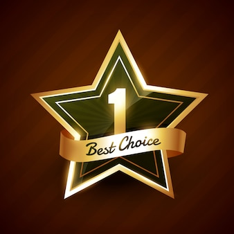 No. 1 best choice golden label badge