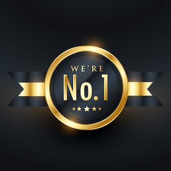No. 1 leadership business golden label design