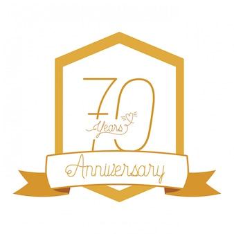 № 70 для эмблемы или эмблемы празднования юбилея