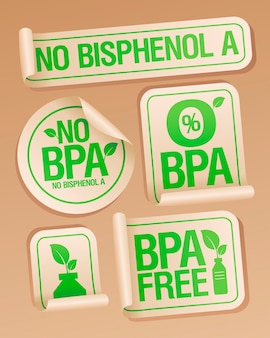 No bisphenol a stickers for plastic package
