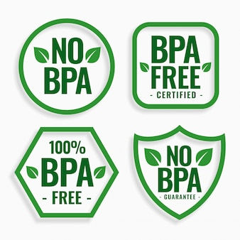 No bpa  bisphenol-a and phthalates labels set
