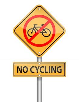 Не езда на велосипеде знак полюс, вектор на белом