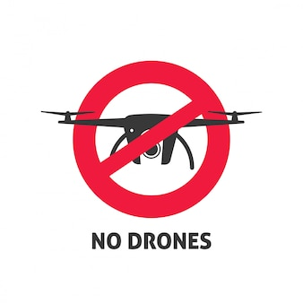 No drone sign vector