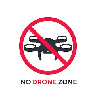 No drone zone, vector restrictive sign