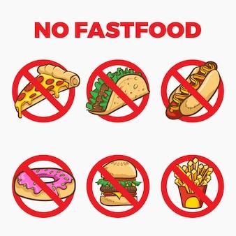 No fastfood sign cartoon