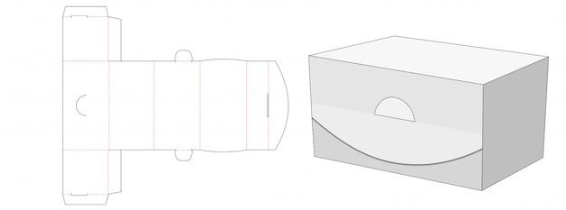 No glue packaging box die cut template design