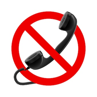 No handset allowed sign