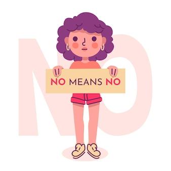 No means no concept