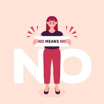 Nessun significa nessun concetto di illustrazione