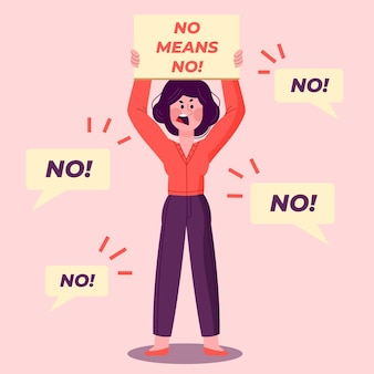 No means no illustration design