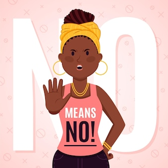 No means no illustration style