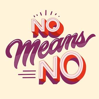 No significa nessuna scritta