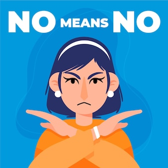No means no stop abusive behaviour