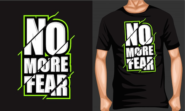 No more fear lettering typography