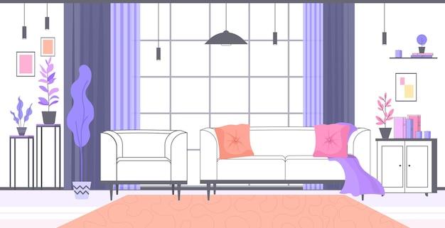 사람이 없다 거실 내부 집 현대 아파트 디자인 수평의