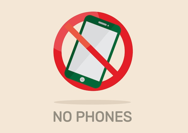 No phone sign.