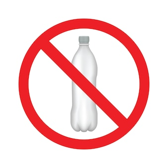 No plastic water bottle line icon. logo isolated