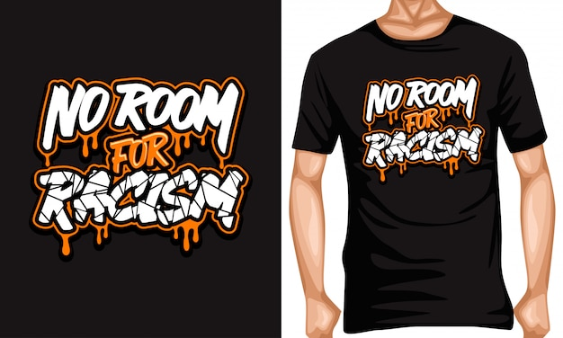 No room for racism lettering typography quotes