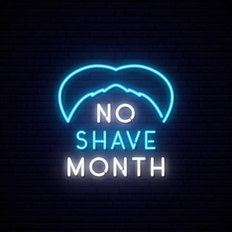 No shave month. neon blue mustache.