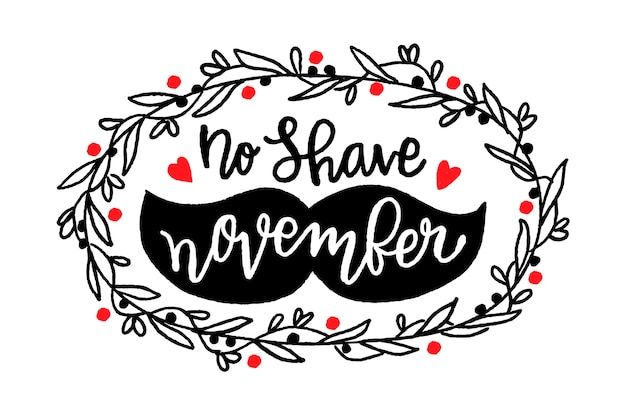 No shave movember lettering background