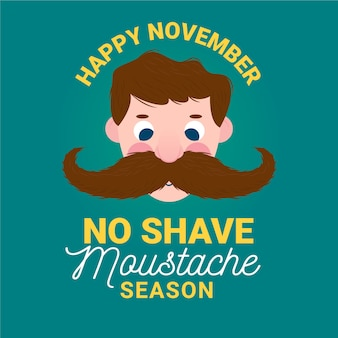 No shave movember moustache season