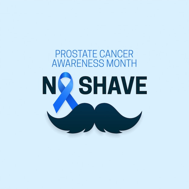 No shave typography text for prostate cancer awareness month