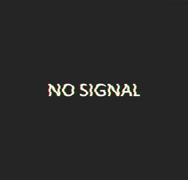 No signal glitch effect vector