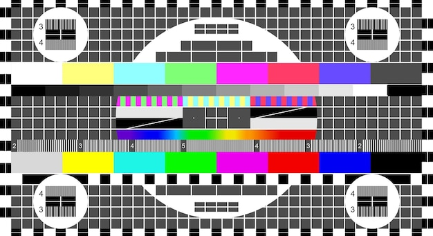 No signal tv, television test screen in case of no signal. test card or pattern, tv resolution test charts background. vector illustration.