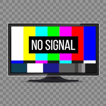 No signal tv test. television screen error. smpte.