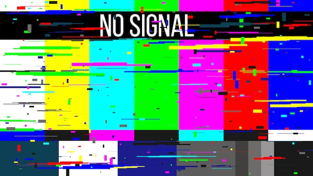No signal tv test, television screen error.