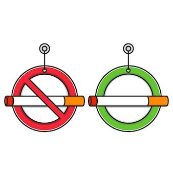 禁煙および喫煙エリアの標識