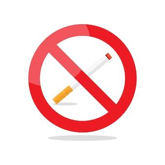 No smoking area prohibition sign