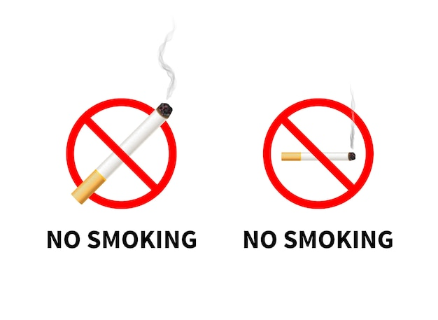 No smoking forbidden signs