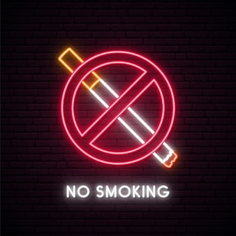 No smoking neon sign.