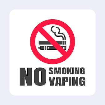 Запрещается курить запрещающий знак vaping значок запрещенного знака на белом фоне векторные иллюстрации